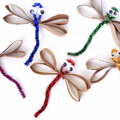 Shiny Pipe Cleaner Dragonflies
