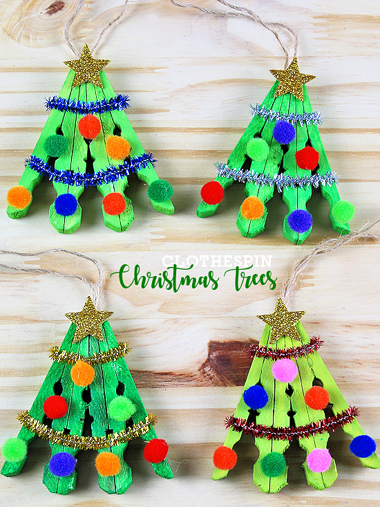 Clothespin Christmas Tree Craft Our Kid Things