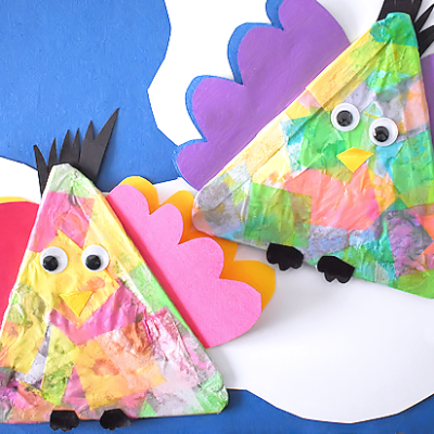 Colorful Tissue Paper Birds