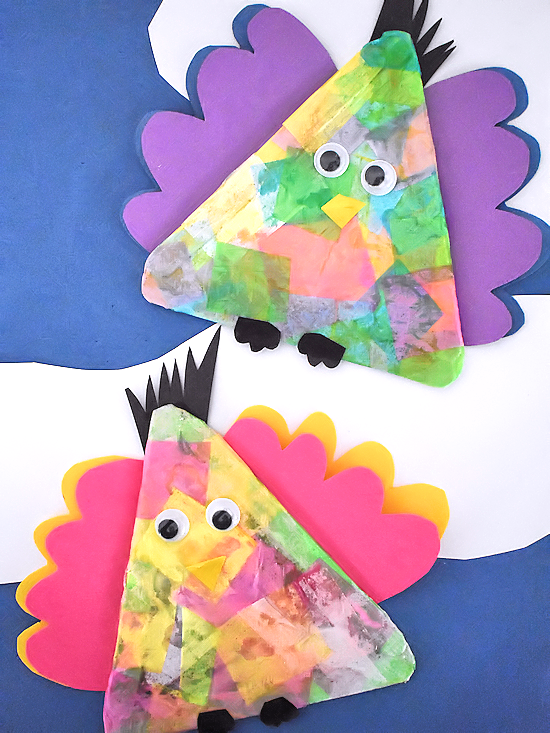 Colorful Tissue Paper Birds Our Kid Things