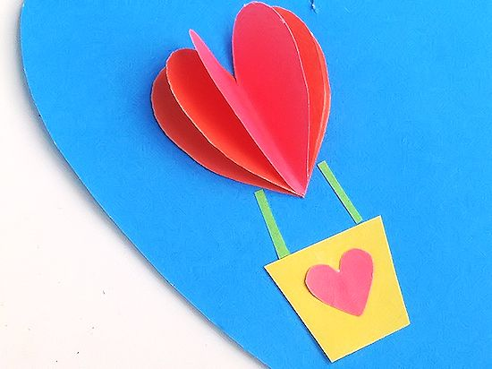 heart air balloons card 3d air balloon card our kid things 4652