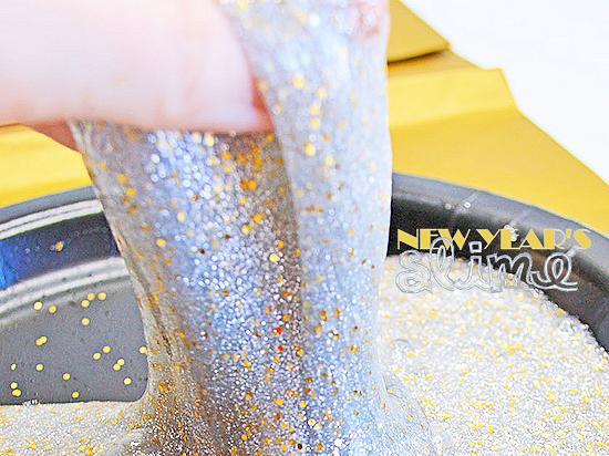 New Year's Slime Celebration Glitter Recipe