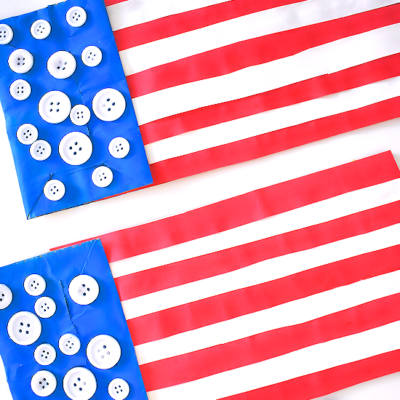 Paper Bag Flag Patriotic Craft