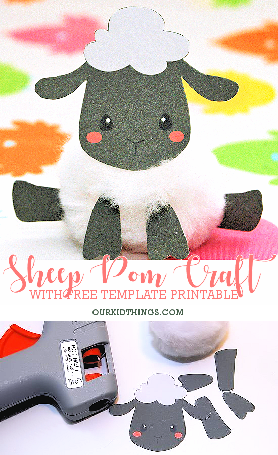 photo about Free Printable Pictures of Sheep identified as Sheep PomPom Craft No cost Printable Our Baby Factors