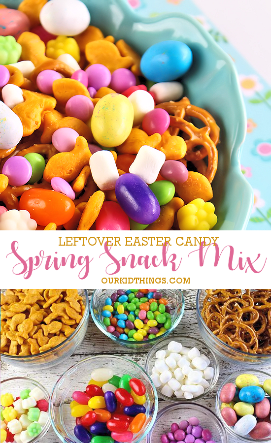 Spring Snack Mix Trail Mix #candy #snackmix #trailmix #spring
