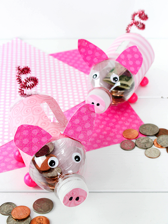 Diy Water Bottle Piggy Banks Our Kid Things