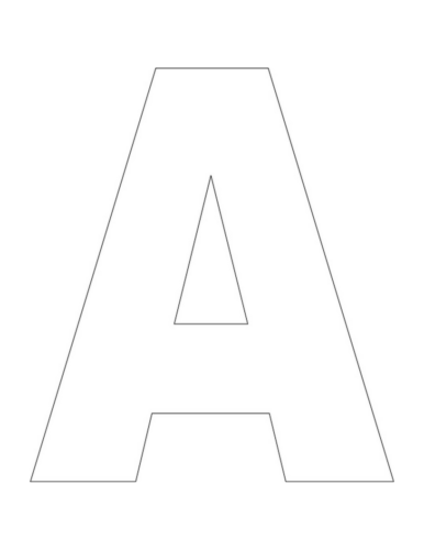 image regarding Letter Cut Out Template known as A is for Alligator Letter A Craft Our Boy or girl Factors