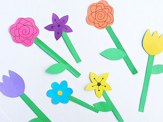 Paper Flower Garden Craft Our Kid Things