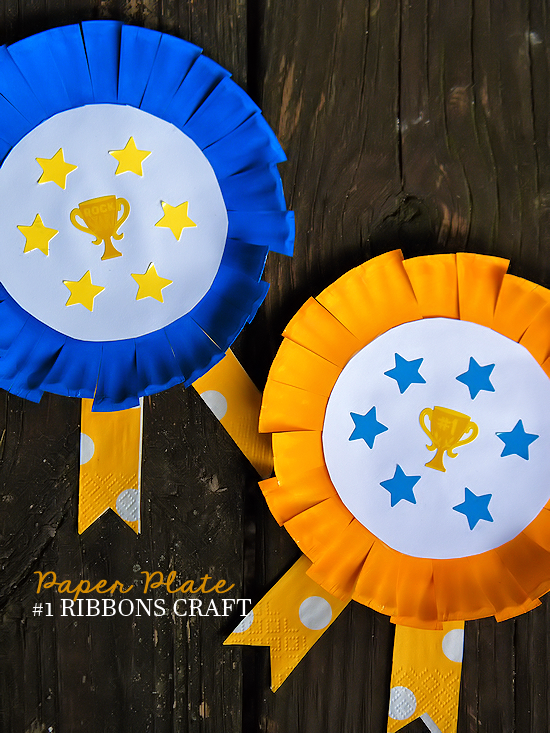 Paper Plate 1 Award Ribbon Craft Our Kid Things