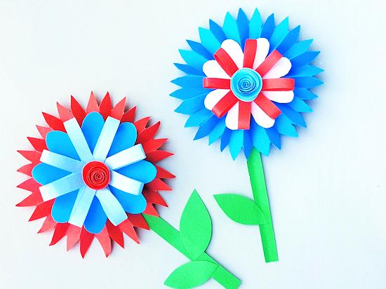 Patriotic Paper Flowers Craft Our Kid Things