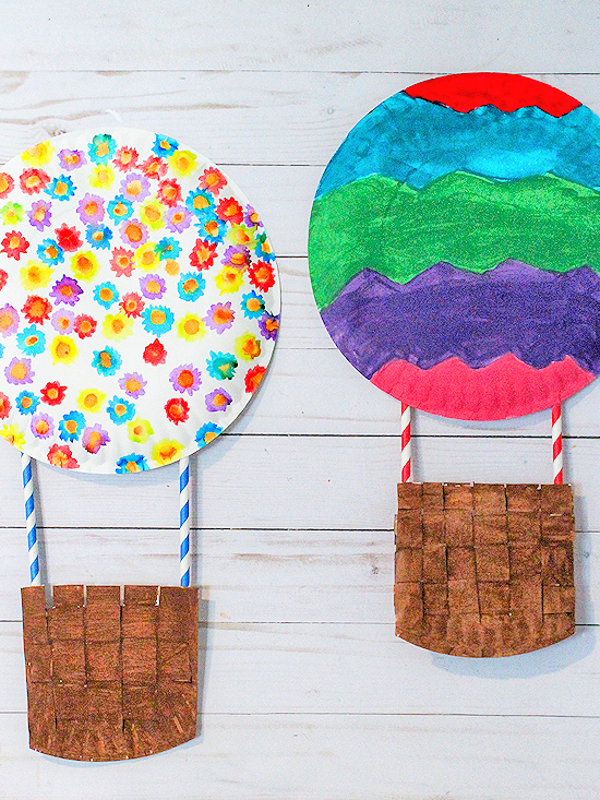 Paper Plate Hot Air Balloon Craft #paperplatecrafts #kidcrafts #weaving  sc 1 st  Our Kid Things & Paper Plate Hot Air Balloon Craft | Our Kid Things