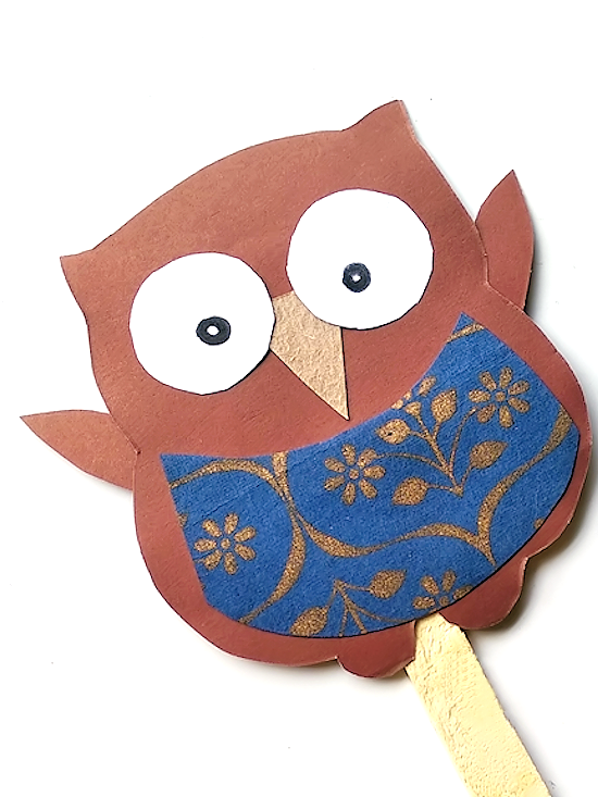 Scrap Paper Owl Craft Our Kid Things