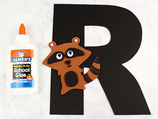 R is for Raccoon Letter R Craft | Our Kid Things