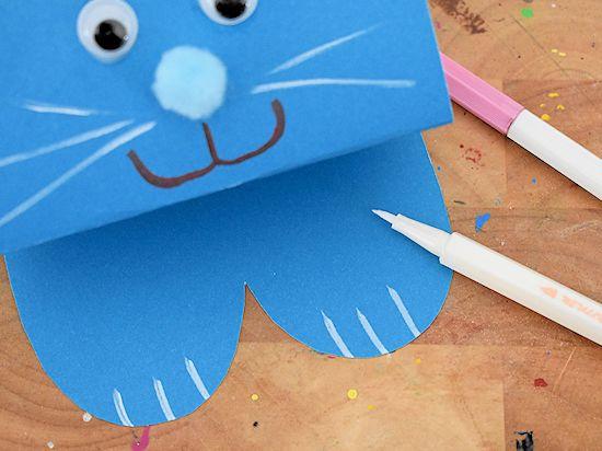 Bouncing Paper Bunnies Craft Easter Easterbunny Springcraft Kidscraft Kidcrafts Papercrafts