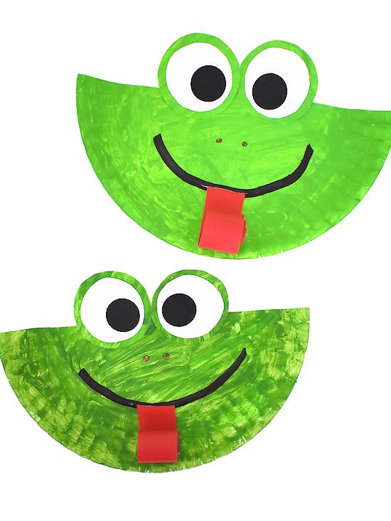 Paper Plate Frog Craft #paperplatecraft #spring #summer #kidscraft #kidcrafts #frogcraft