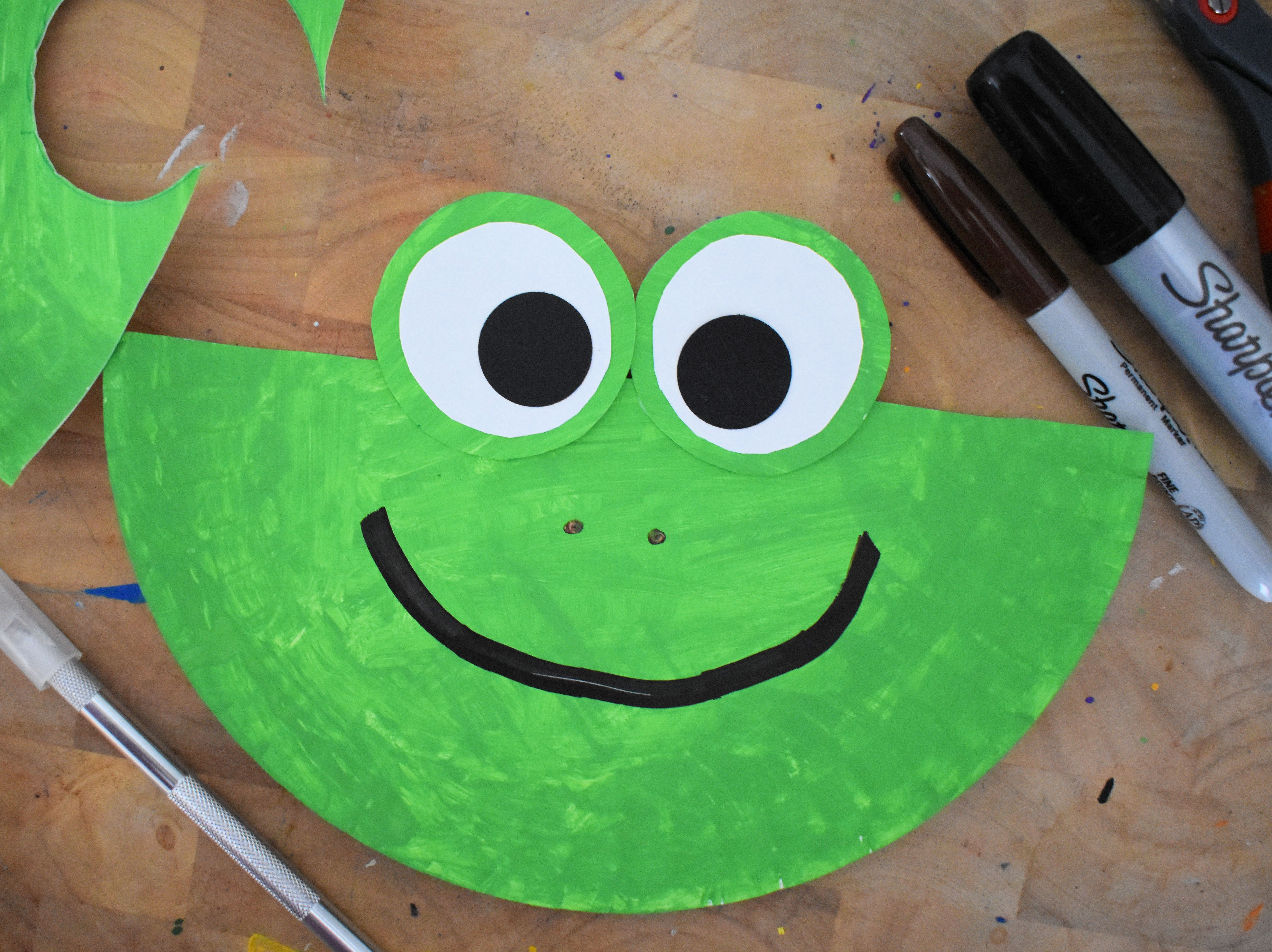 Paper Plate Frog Craft Our Kid Things