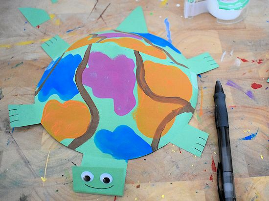 Paper mâché turtle craft | Living and LovingLiving and Loving | 412x550