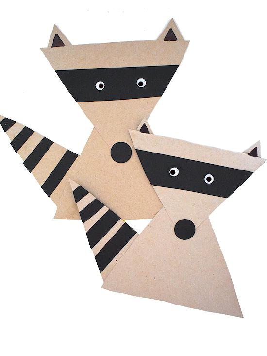 Simple Shape Raccoon Craft